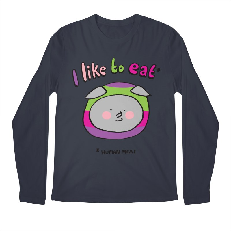 I Like To Eat  Men's Regular Longsleeve T-Shirt by Philippa Rice's Shop
