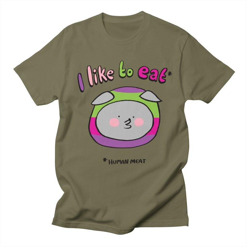 I Like To Eat  Women's Regular Unisex T-Shirt by Philippa Rice's Shop