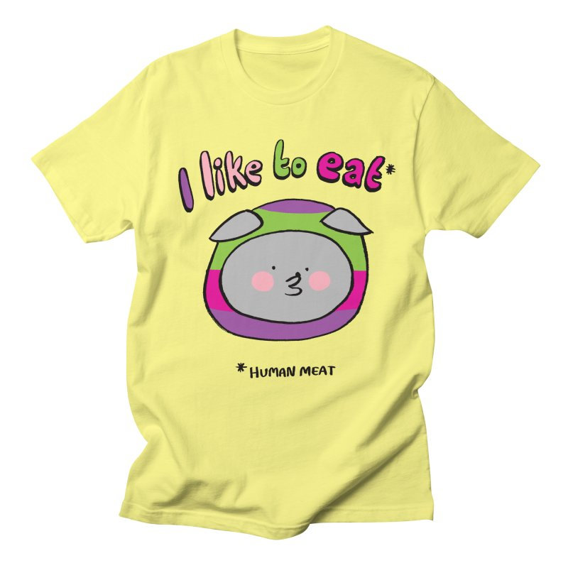 I Like To Eat  Men's Regular T-Shirt by Philippa Rice's Shop