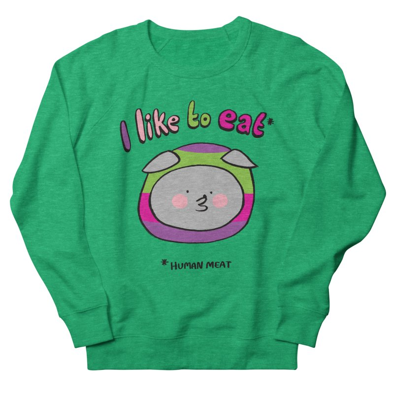 I Like To Eat  Men's Sweatshirt by Philippa Rice's Shop