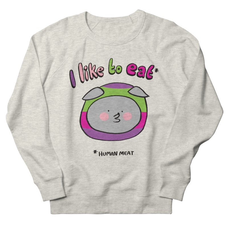 I Like To Eat  Men's French Terry Sweatshirt by Philippa Rice's Shop