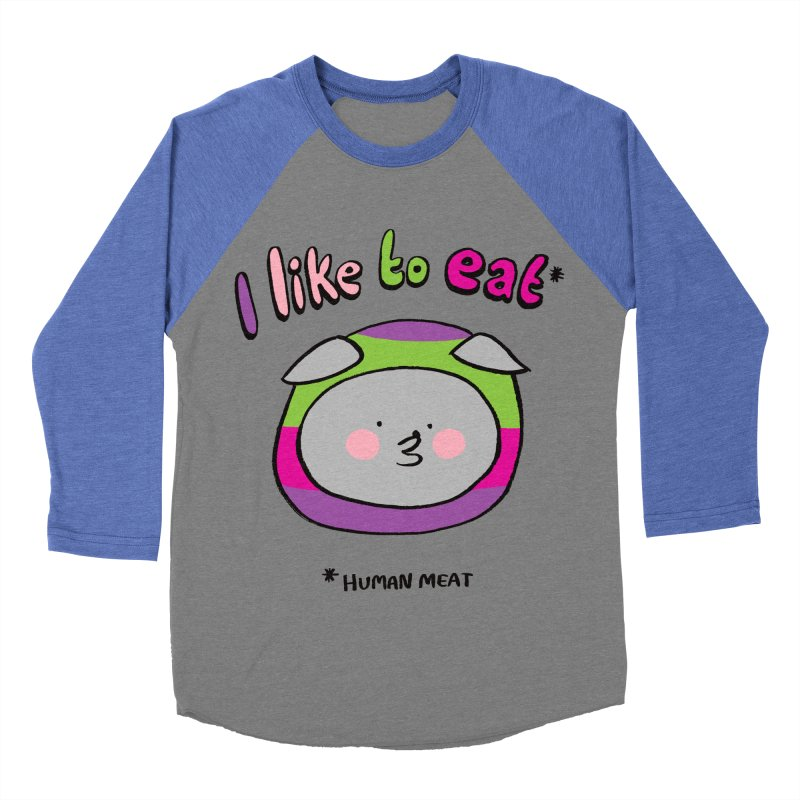 I Like To Eat  Women's Baseball Triblend T-Shirt by Philippa Rice's Shop