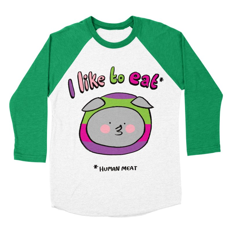 I Like To Eat  Men's Baseball Triblend T-Shirt by Philippa Rice's Shop