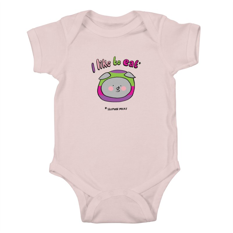 I Like To Eat  Kids Baby Bodysuit by Philippa Rice's Shop