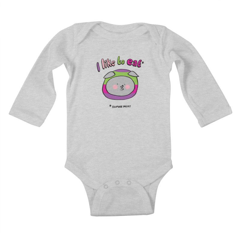 I Like To Eat  Kids Baby Longsleeve Bodysuit by Philippa Rice's Shop