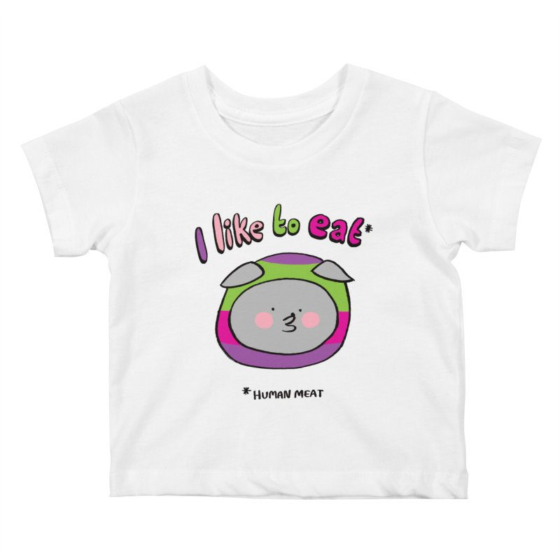 I Like To Eat  Kids Baby T-Shirt by Philippa Rice's Shop