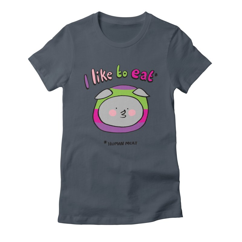 I Like To Eat  Women's T-Shirt by Philippa Rice's Shop