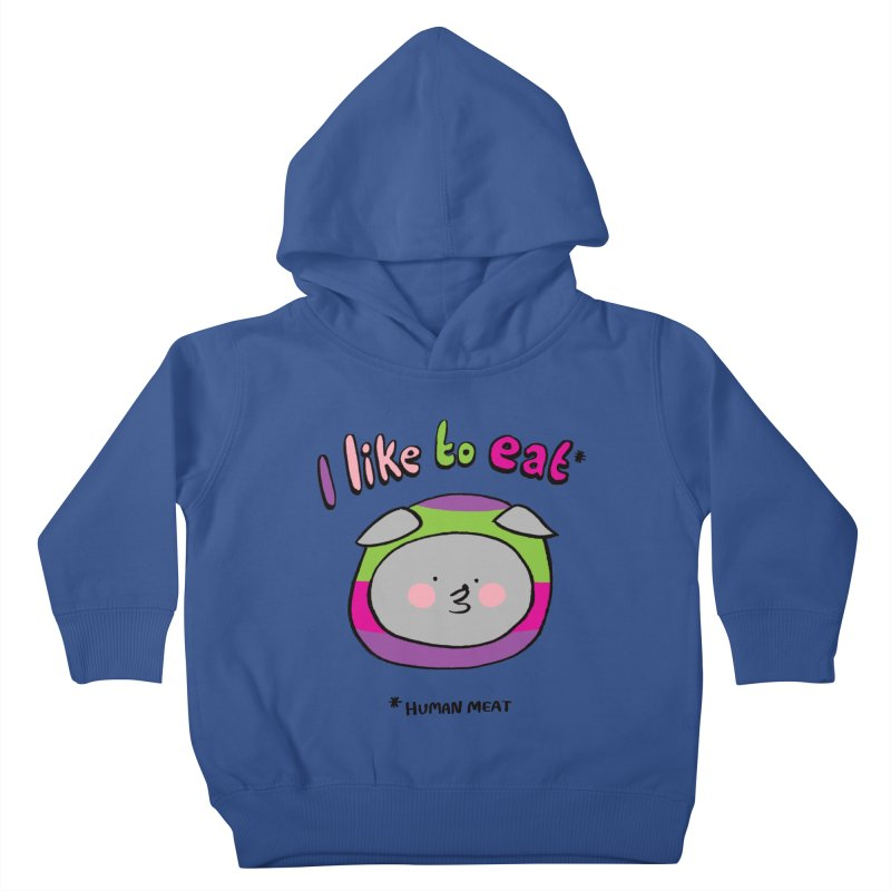 I Like To Eat  Kids Toddler Pullover Hoody by Philippa Rice's Shop
