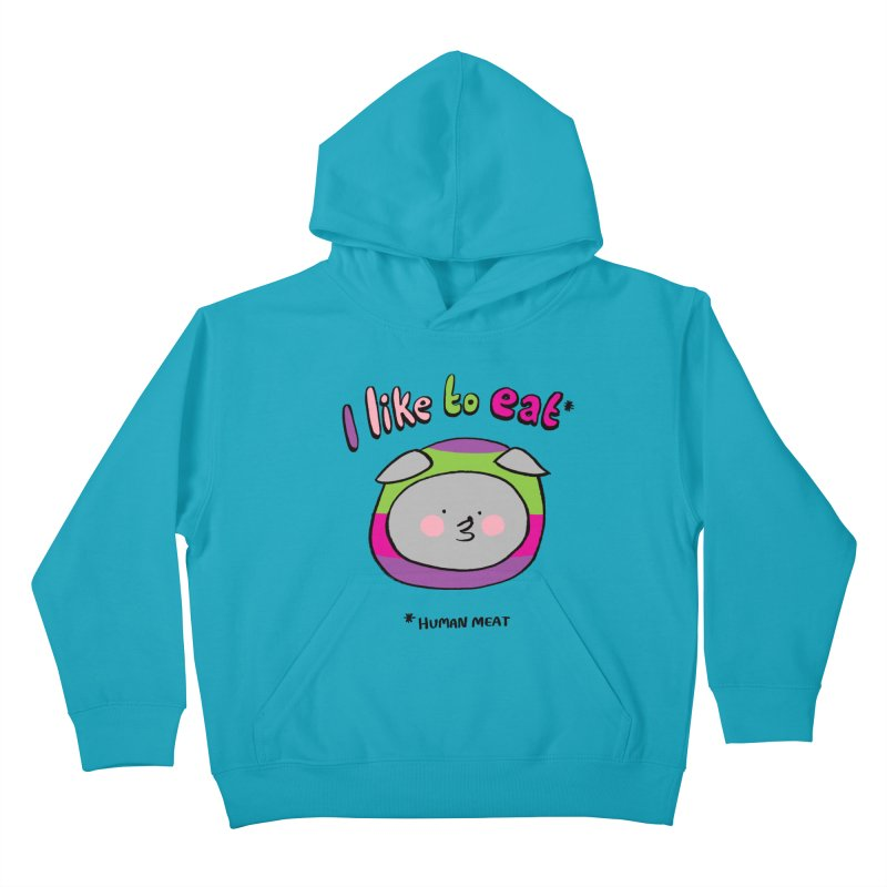 I Like To Eat  Kids Pullover Hoody by Philippa Rice's Shop
