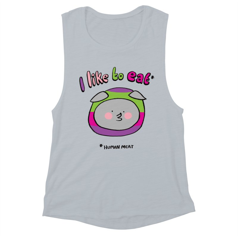 I Like To Eat  Women's Muscle Tank by Philippa Rice's Shop
