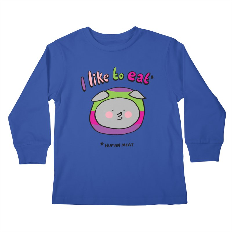 I Like To Eat  Kids Longsleeve T-Shirt by Philippa Rice's Shop