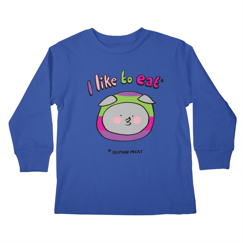 I Like To Eat  Kids Longsleeve T-Shirt by Philippa Rice's Shop
