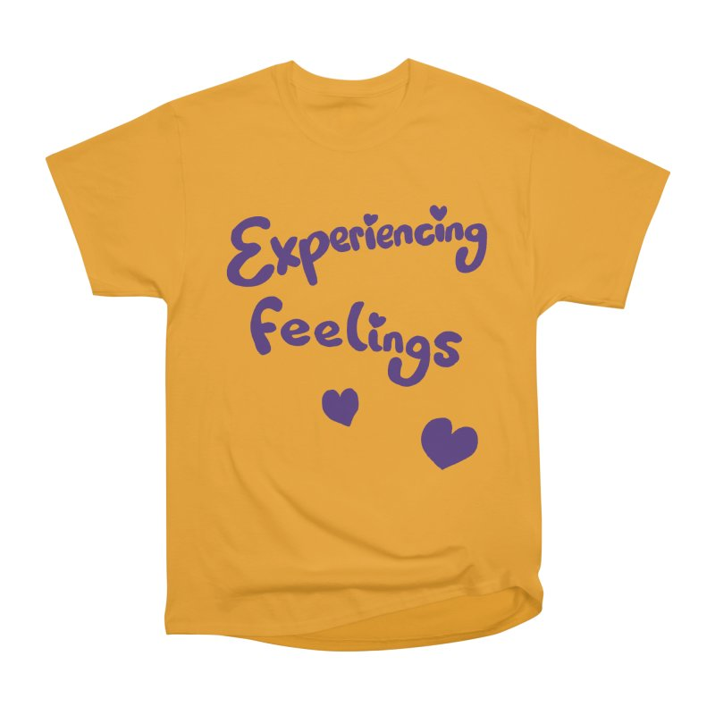 EXPERIENCING FEELINGS Men's Heavyweight T-Shirt by Philippa Rice's Shop