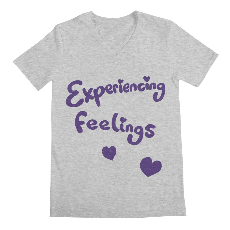 EXPERIENCING FEELINGS Men's Regular V-Neck by Philippa Rice's Shop