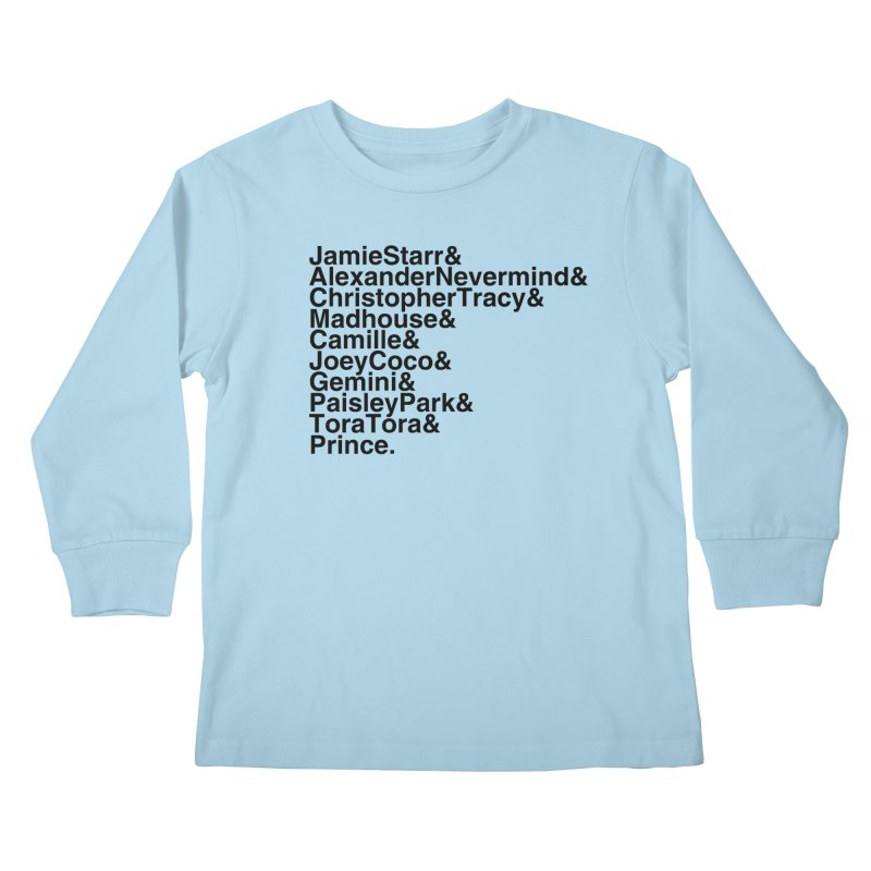 My Name Is... (black text) Kids Longsleeve T-Shirt by phillipolive's Artist Shop