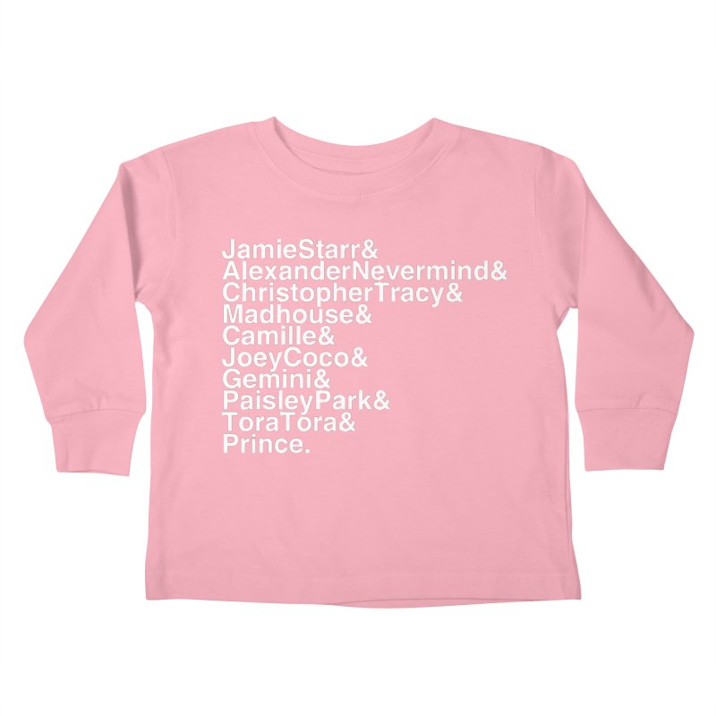 My Name Is... (white text) Kids Toddler Longsleeve T-Shirt by phillipolive's Artist Shop