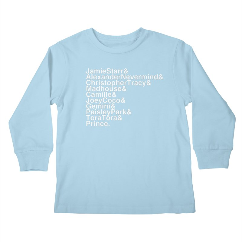 My Name Is... (white text) Kids Longsleeve T-Shirt by phillipolive's Artist Shop