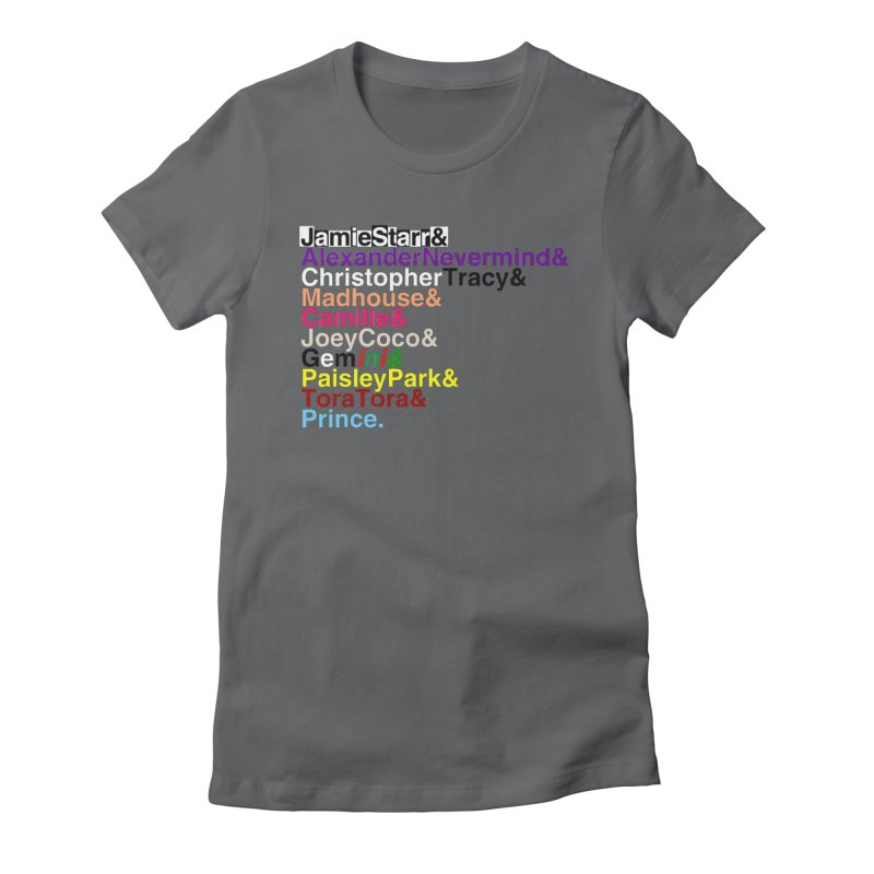 My Name Is... (multicolor, & last) Women's Fitted T-Shirt by phillipolive's Artist Shop