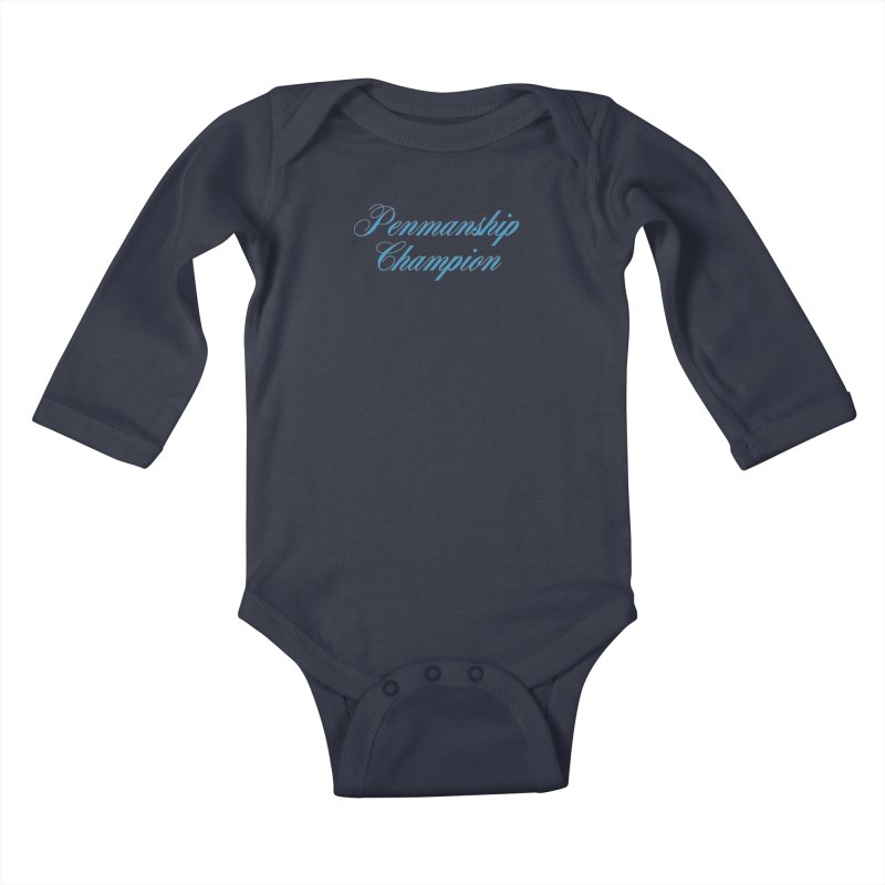 Useless Skills (blue text) Kids Baby Longsleeve Bodysuit by phillipolive's Artist Shop