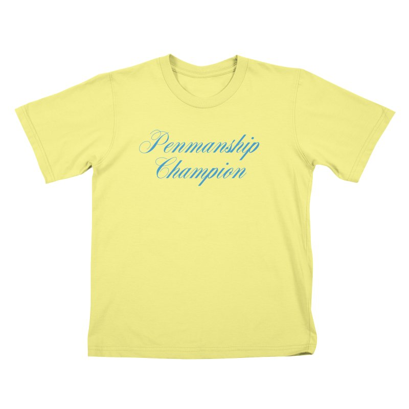 Useless Skills (blue text) Kids T-shirt by phillipolive's Artist Shop