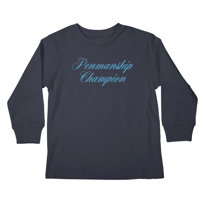 Useless Skills (blue text) Kids Longsleeve T-Shirt by phillipolive's Artist Shop