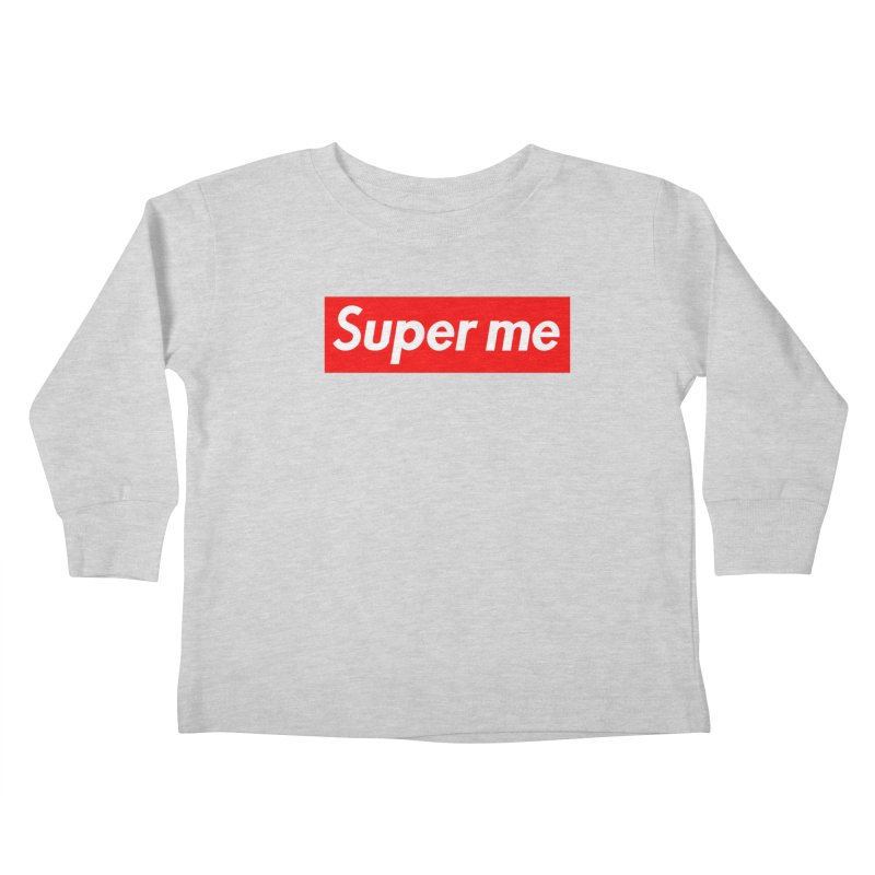 Super Me Kids Toddler Longsleeve T-Shirt by phillipolive's Artist Shop