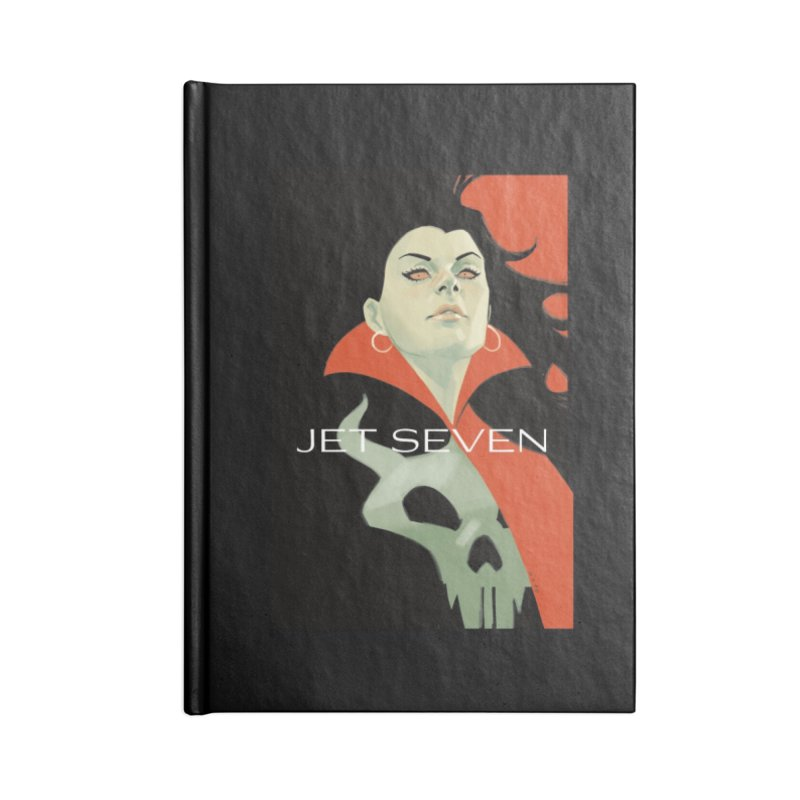 Jet Seven Galaxia Accessories Lined Journal Notebook by Phil Noto's Shop