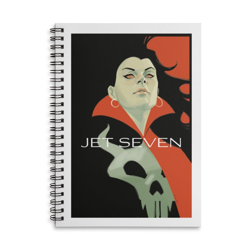 Jet Seven Galaxia Accessories Lined Spiral Notebook by Phil Noto's Shop