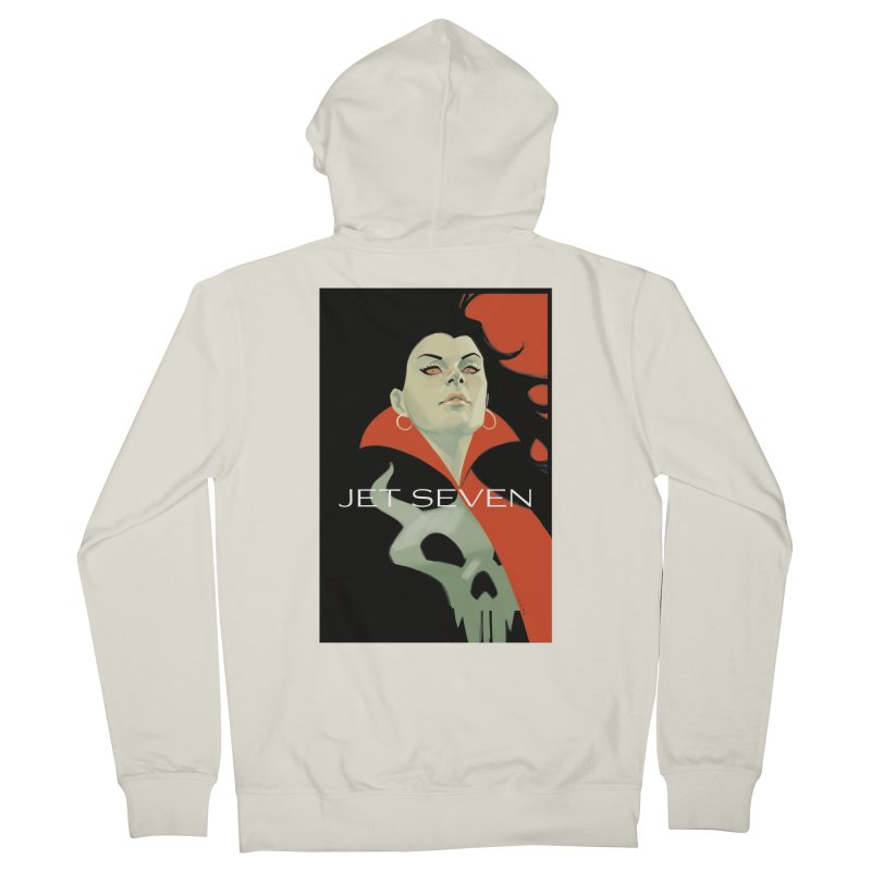 Jet Seven Galaxia Men's French Terry Zip-Up Hoody by Phil Noto's Shop