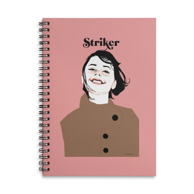 Striker Accessories Lined Spiral Notebook by Phil Noto's Shop