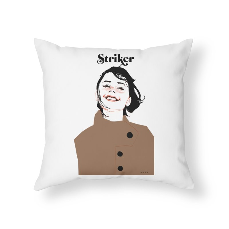 Striker Home Throw Pillow by Phil Noto's Shop