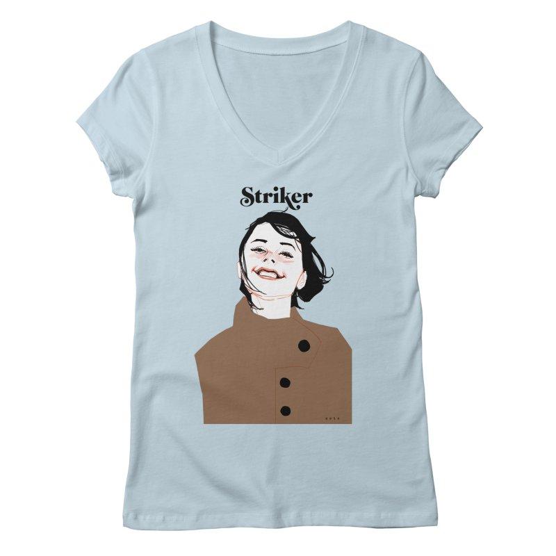 Striker Women's Regular V-Neck by Phil Noto's Shop