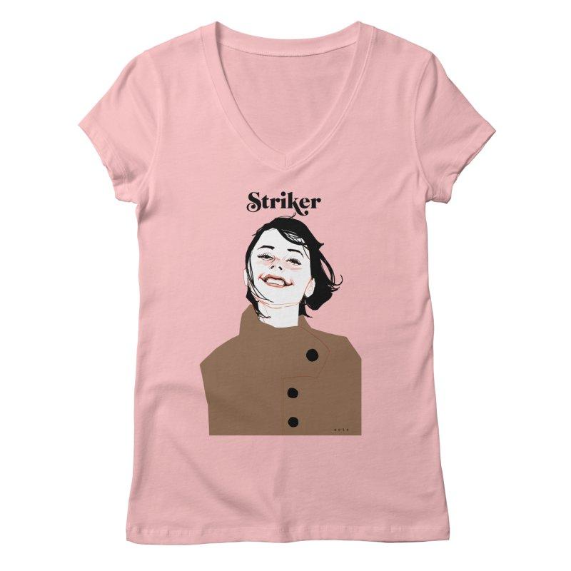 Striker Women's V-Neck by Phil Noto's Shop