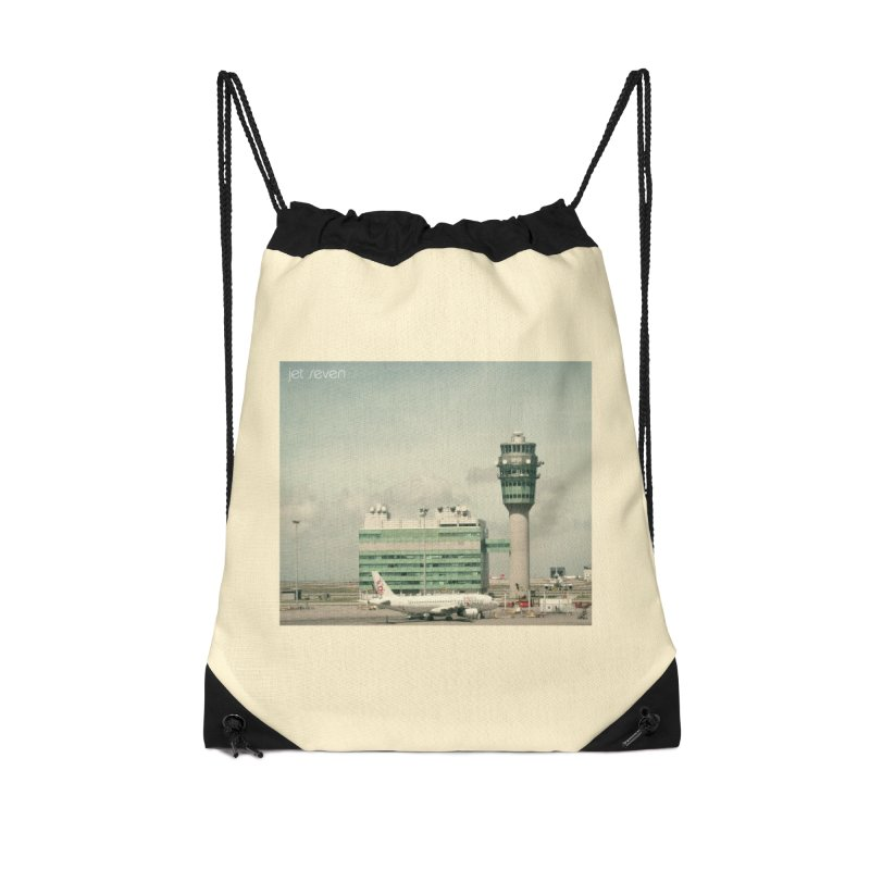 Jet Seven Airport Accessories Drawstring Bag Bag by Phil Noto's Shop