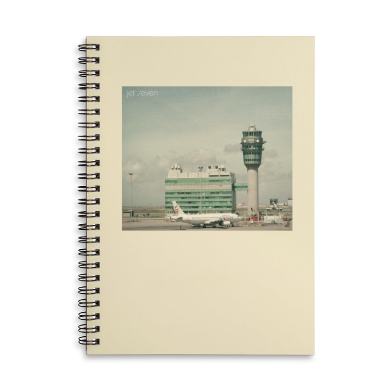 Jet Seven Airport Accessories Lined Spiral Notebook by Phil Noto's Shop
