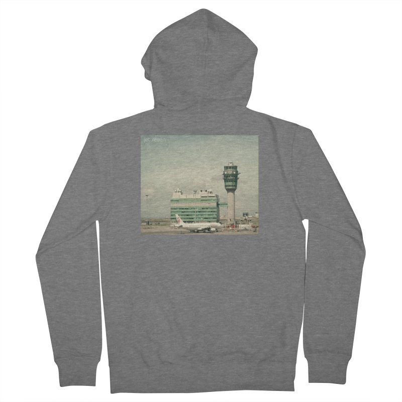 Jet Seven Airport Men's French Terry Zip-Up Hoody by Phil Noto's Shop
