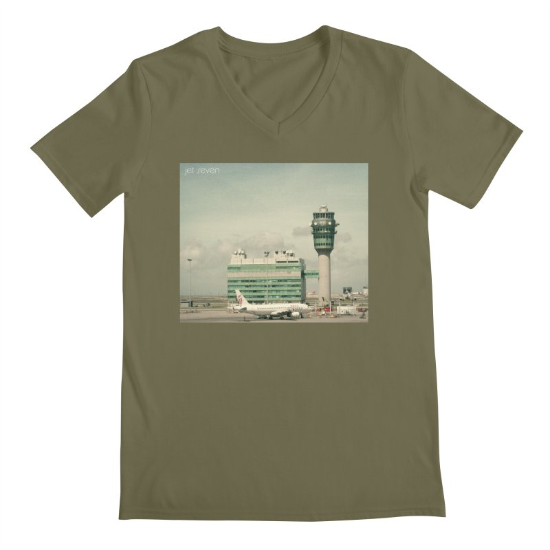Jet Seven Airport Men's V-Neck by Phil Noto's Shop