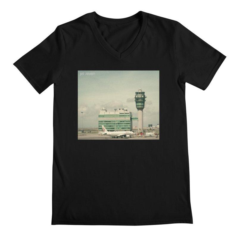 Jet Seven Airport Men's Regular V-Neck by Phil Noto's Shop