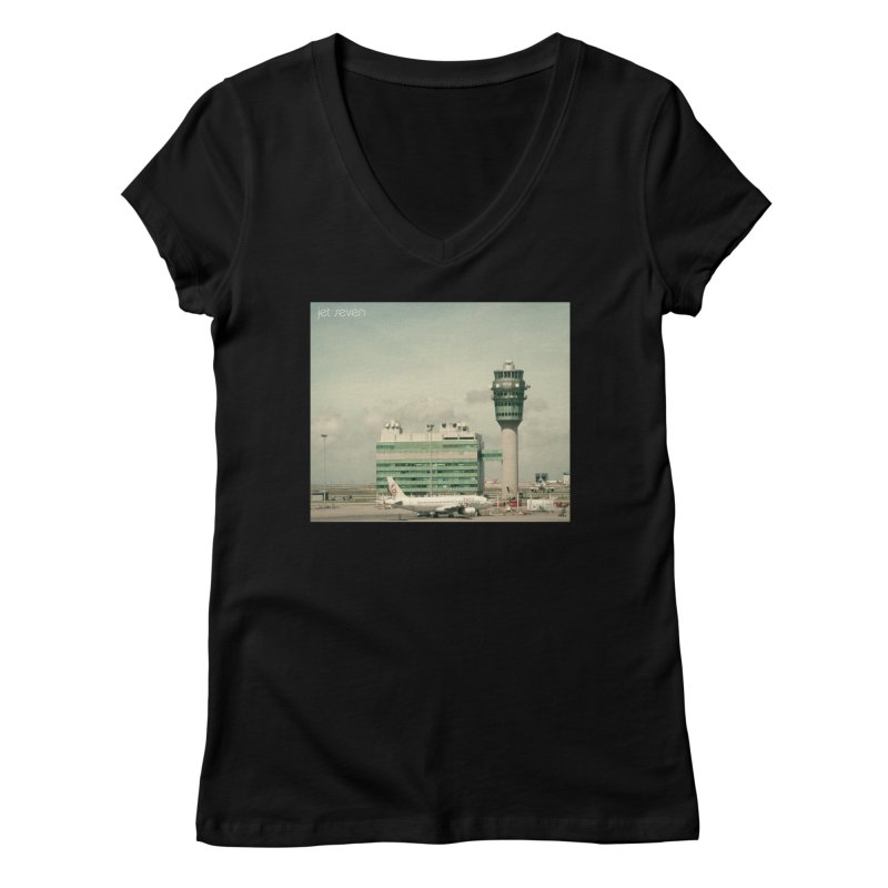 Jet Seven Airport Women's Regular V-Neck by Phil Noto's Shop