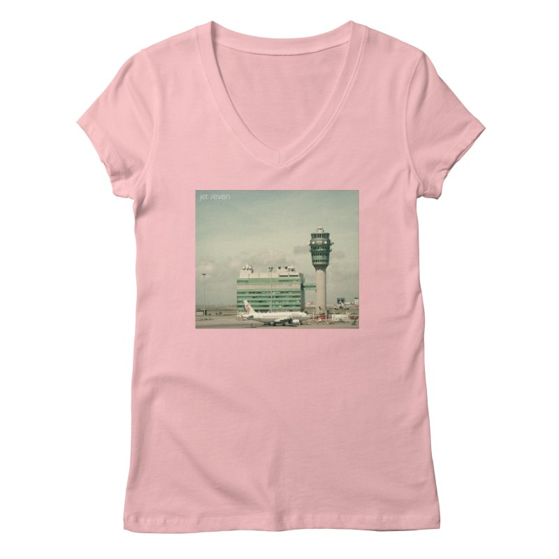 Jet Seven Airport Women's Regular V-Neck by Phil Noto's Shop