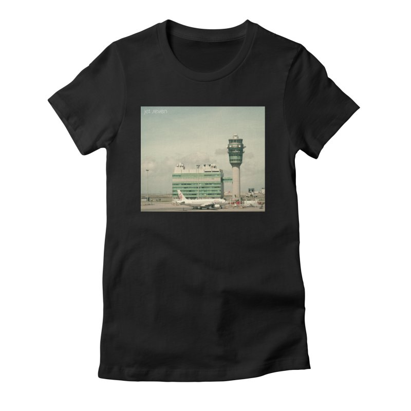 Jet Seven Airport Women's Fitted T-Shirt by Phil Noto's Shop