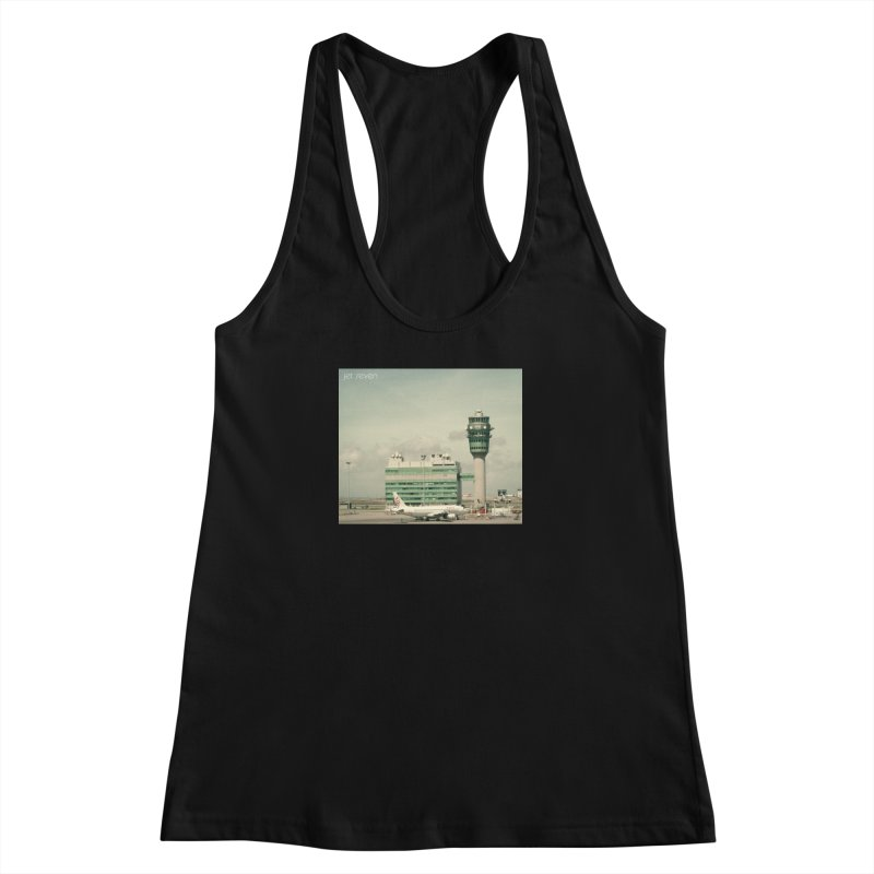 Jet Seven Airport Women's Racerback Tank by Phil Noto's Shop