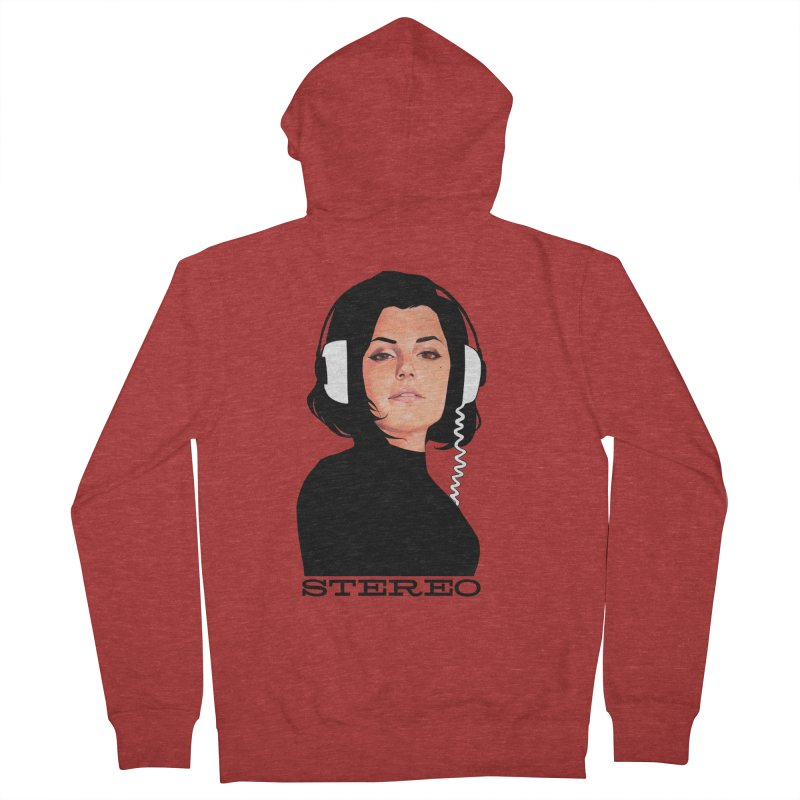 Stereo Women's French Terry Zip-Up Hoody by Phil Noto's Shop