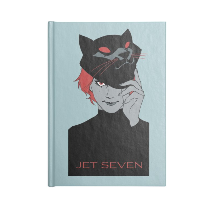 Jet Seven Cat Accessories Lined Journal Notebook by Phil Noto's Shop
