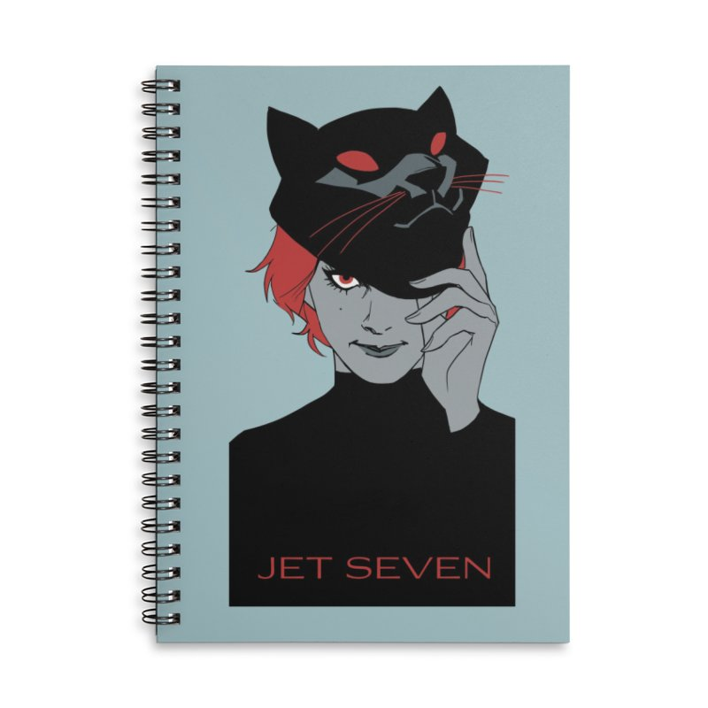 Jet Seven Cat Accessories Lined Spiral Notebook by Phil Noto's Shop