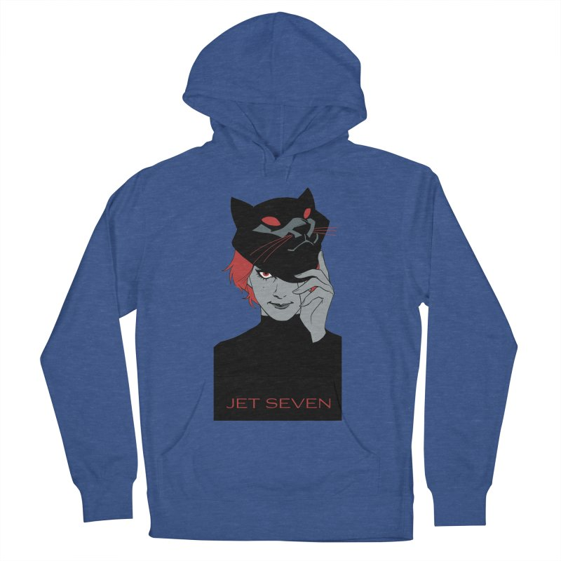 Jet Seven Cat Men's French Terry Pullover Hoody by Phil Noto's Shop