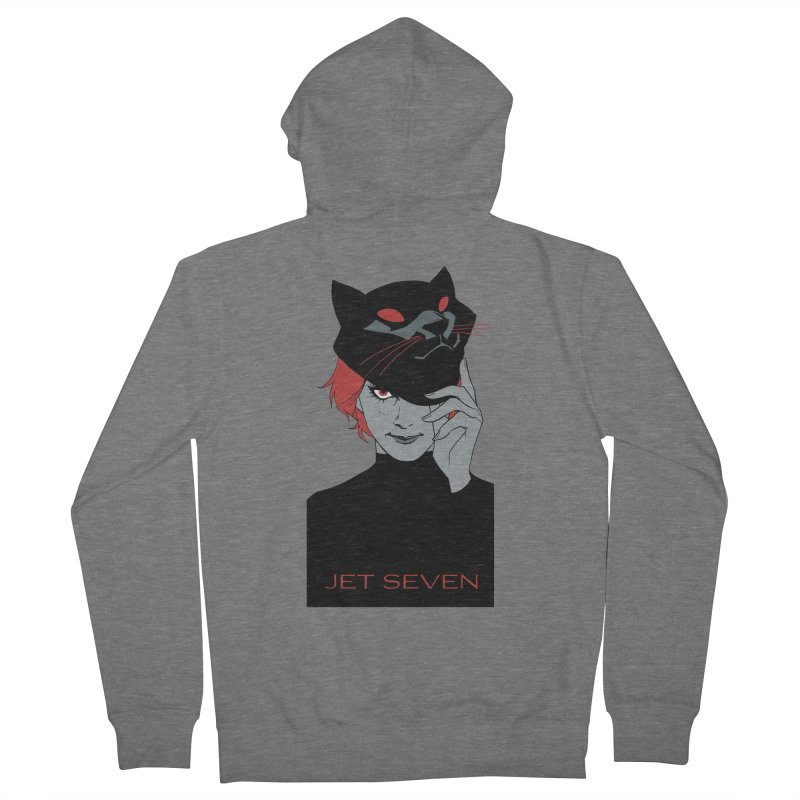 Jet Seven Cat Women's French Terry Zip-Up Hoody by Phil Noto's Shop