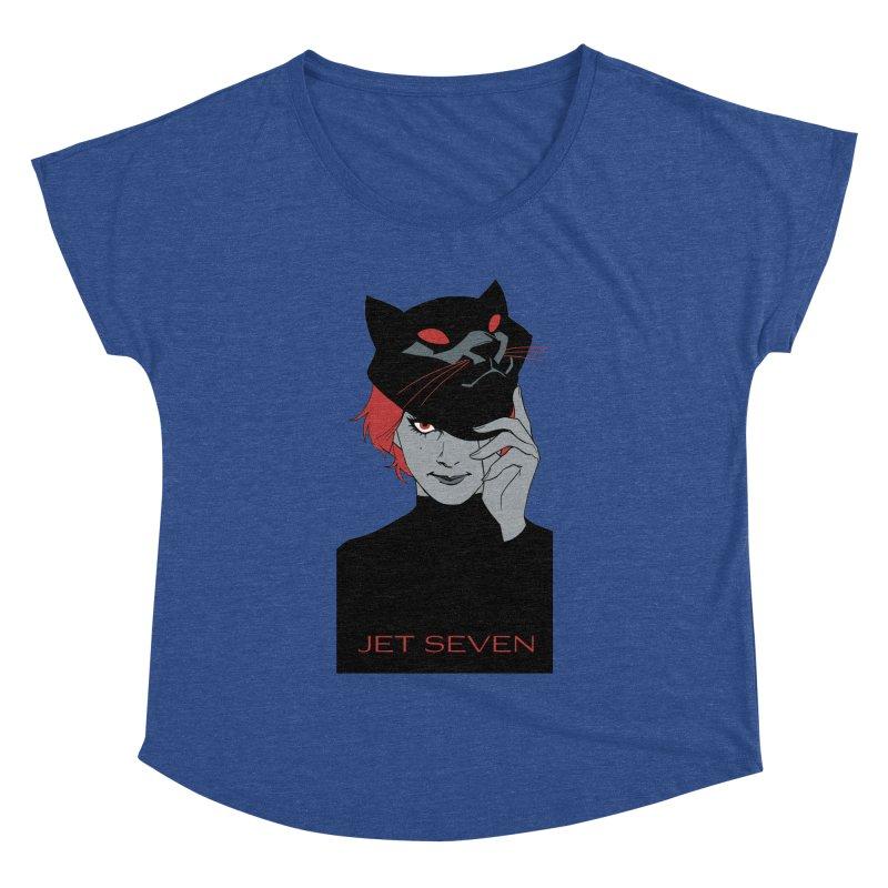 Jet Seven Cat Women's Dolman Scoop Neck by Phil Noto's Shop