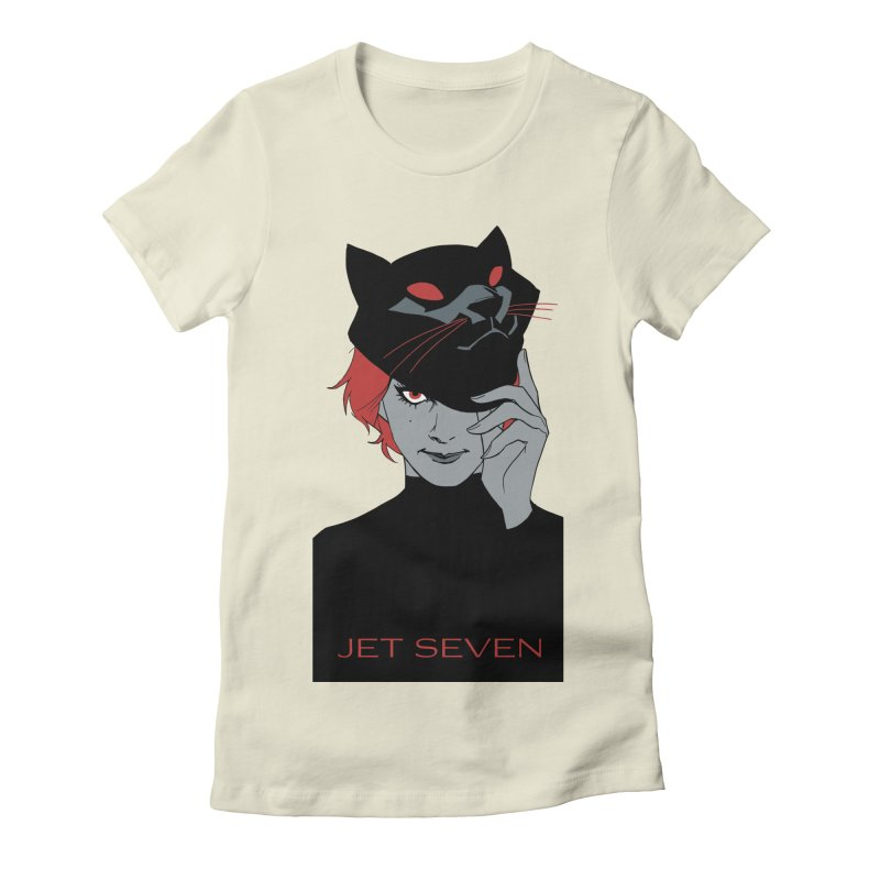 Jet Seven Cat Women's Fitted T-Shirt by Phil Noto's Shop