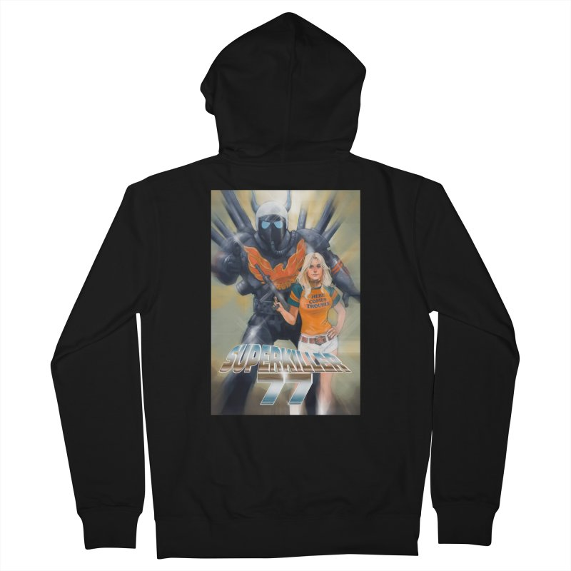 Superkiller 77 Women's French Terry Zip-Up Hoody by Phil Noto's Shop